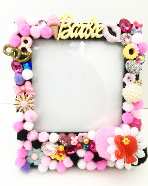 Pink Barbie Pom Pom Frame   Etsy