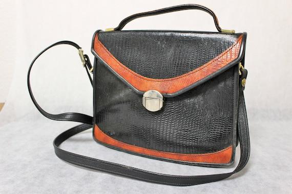 Vintage bag Alligator Genuine leather  Handmade by