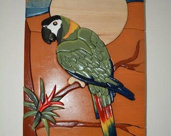 Colorful Parrot Wall Hanging