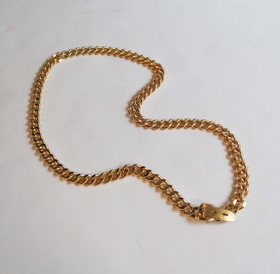 Vintage 90s Gold Chain Belt // Small Gold Belt //
