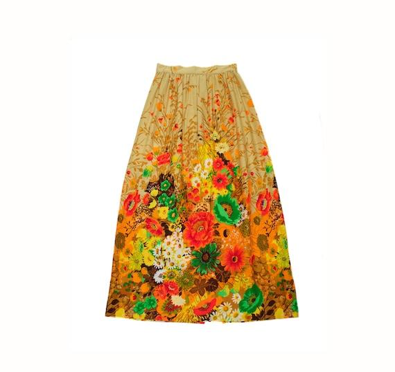 Women's Vintage 1960's Maxi Skirt // Lightweight L