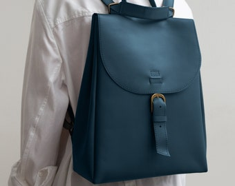 Convertible backpack purse | 2in1 - leather backpack and shoulder bag