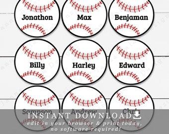 photograph relating to Baseball Printable named Baseball printable Etsy
