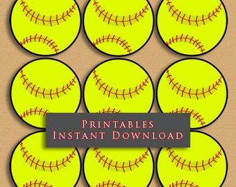 photograph relating to Printable Softball known as Softball printable Etsy