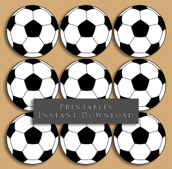 4040 Soccer Ball Printable Cupcake Toppers Sports Theme Etsy Best Soccer Ball Decorations Cupcakes