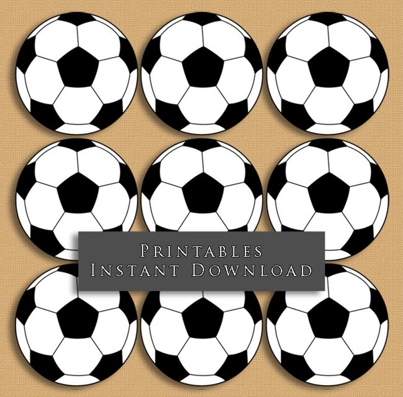 b9105a48586 2.5 Soccer Ball Printable Cupcake Toppers Sports Theme