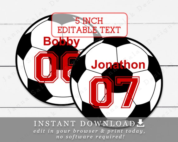 graphic about Soccer Ball Template Printable identified as 5\
