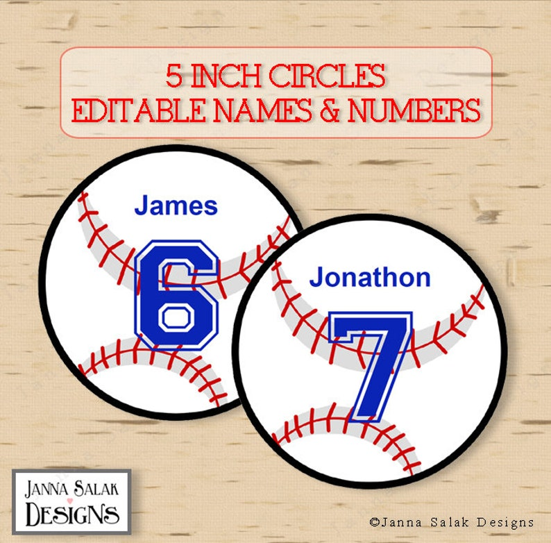 image relating to Free Printable Baseball Tags known as 5\