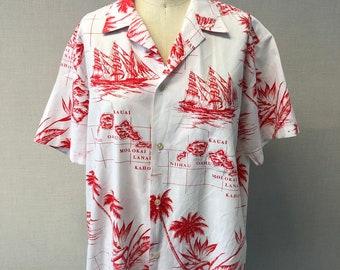 860d2128d016 Vintage Rai Nani Tiki Hawaiian Shirt - Large