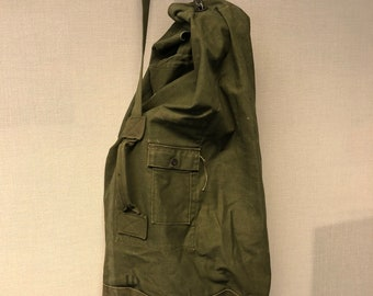 9fe2d1887d Vintage Military Duffel Bag