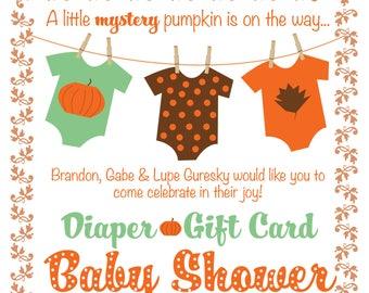Pumpkin Baby Shower Invitation | Digital File
