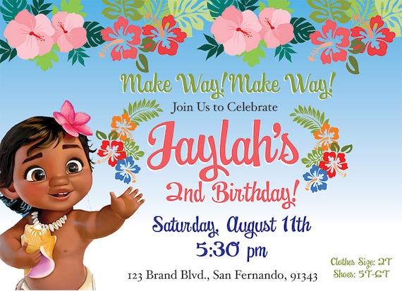 Moana Themed Birthday Party Baby Theme Double Sided