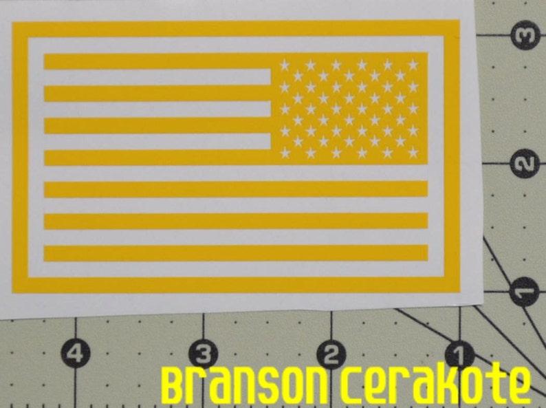 53870ebd50e Reverse American Flag Stencil High Heat Vinyl Magazine Gun
