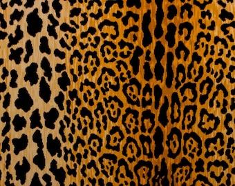 Braemore Jamil Leopard Print Natural Velvet Fabric Cut Yardage SHIPS QUICK
