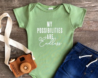 Organic Inspiration! Gender Neutral Baby Outfit, Unique Trendy Typograph, Infant Bodysuit, Positive Baby Clothes, Cute Baby Gift, Earth baby