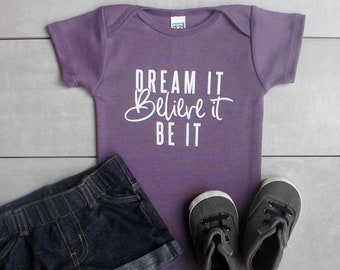 Inspirational Baby! Organic Baby Clothes, Baby Girl, Yoga Baby, Unique Trendy Typograph, Cute Baby Shower Gift, Cute Bodysuit, One Piece
