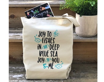Inspirational Eco Tote, Organic Cotton Tote, Eco Friendly, Farmers Market Bag, Save our Oceans, Plastic Free, Gifts for Her, Reusable Tote