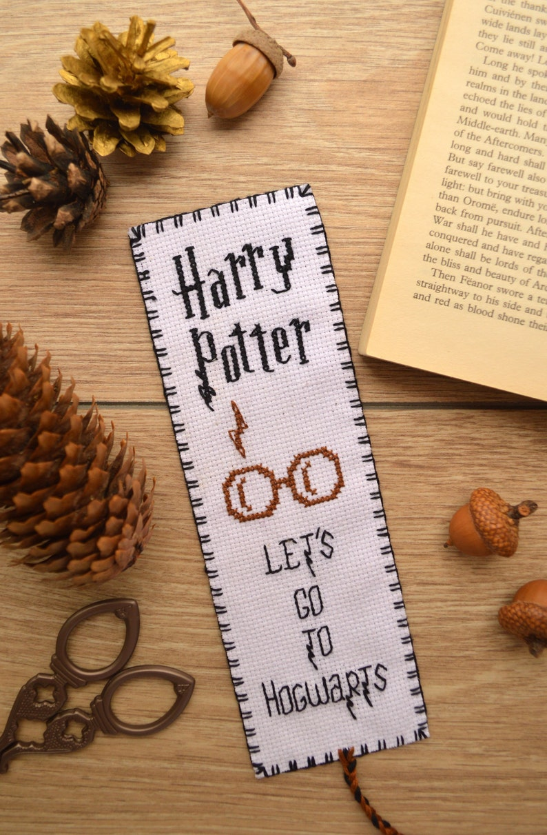 796794642 Harry Potter Embroidery design Bookmark Let s go to