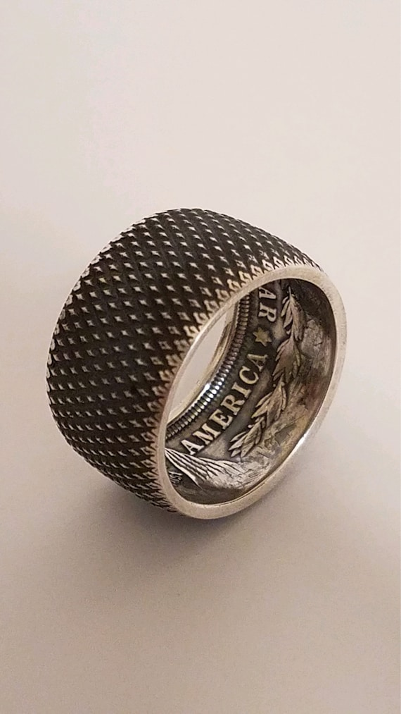 High Quality Morgan silver dollar Ring.