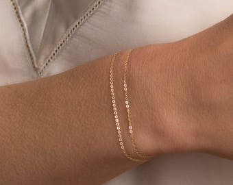 ALEX Bracelet • Basic Chain Bracelet • Delicate Bracelet, Simple Chain Bracelet, Thin Chain Bracelet, Dainty Bracelet, Layering Bracelet