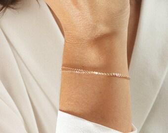 LULA Bracelet, Thin Chain Bracelet, Simple Bracelet, Everyday Bracelet, Delicate Bracelet, Gold, Silver, Rose