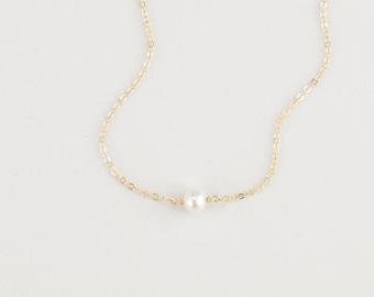 ALBA Bracelet • Tiny Pearl Bracelet • Single Pearl Bracelet, Layering Bracelet, Gift for Her, Dainty Bracelet, Simple Bracelet, Bridesmaid