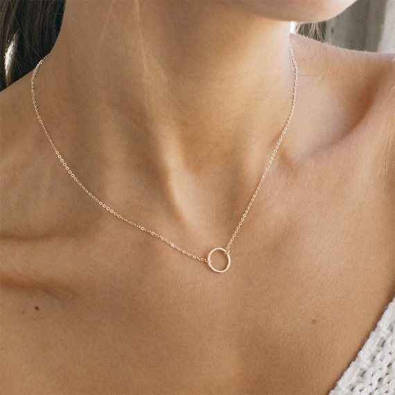Silver Dainty Chain Gold USA North America Hammered Pendant Necklace