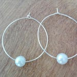 "Hoop silver band ""Charlie"" and a Pearl"