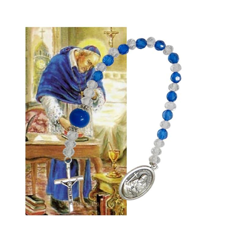 Saint Alphonsus Liguori Patron Saint of the ones that Suffer From Arthritis  Rosary Chaplet (J-1154)