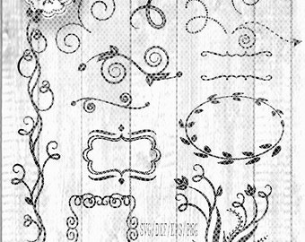 Banner And Flourish Cutting Designs Svg Cut File Floral