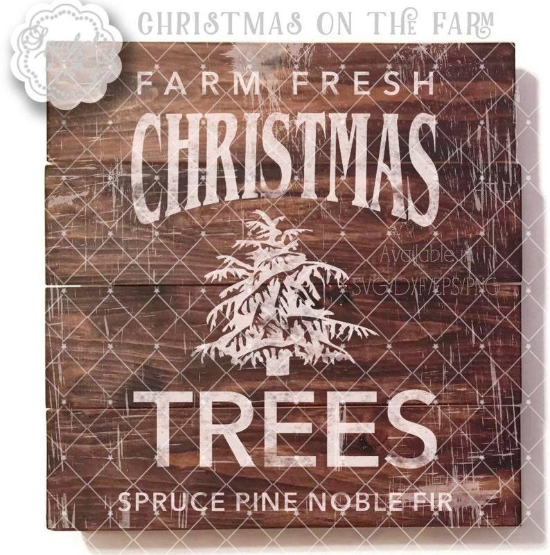 Vintage Rustic Christmas Svg File Cut Files Christmas Tree