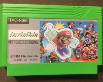 Invisible Super Mario Bros. Custom Famicom 8bit Game.