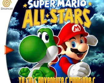 Super Mario All Stars 5 Yoshi's Adventures Continues Custom Sega Dreamcast Game.