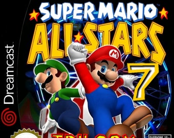 Super Mario All Stars 7 Trilogy Worlds 2 Custom Sega Dreamcast Game.