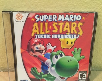 Super Mario All Stars 4 Yoshi's Adventure Custom Sega Dreamcast Game.