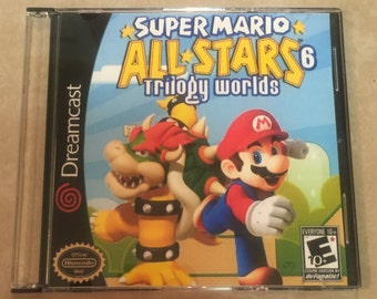 SALE! Super Mario All Stars 6 Trilogy Worlds Custom Sega Dreamcast Game.