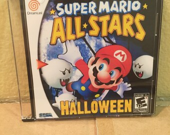 Super Mario All Stars 3 Halloween Custom Sega Dreamcast Game.