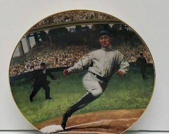 The Legends of Baseball DELPHI Plate Bradex Numbered Ty Cobb Georgia Peach #MM Display Collectible