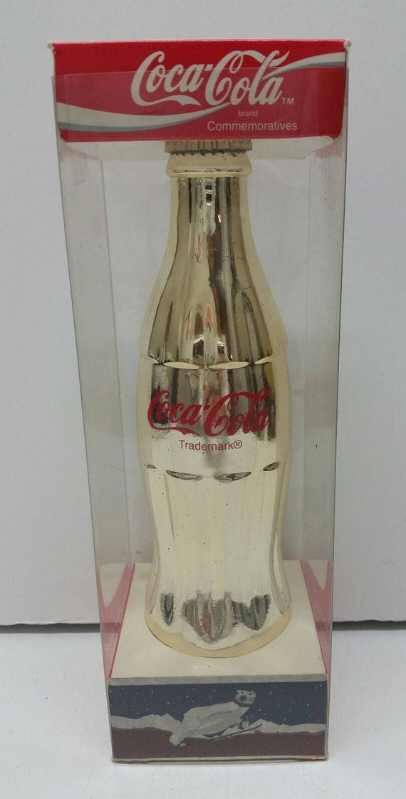 Coca-Cola Metallic Silver Bottle Collectible Contour Bottle BRAND NEW