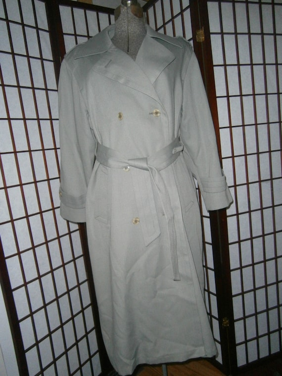 Ladies Classic Spy Trench Coat by Etsy
