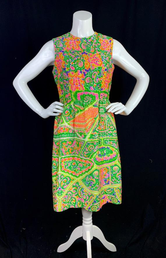 1960s LANZ Psychedelic Print Dress - Vintage 60s P