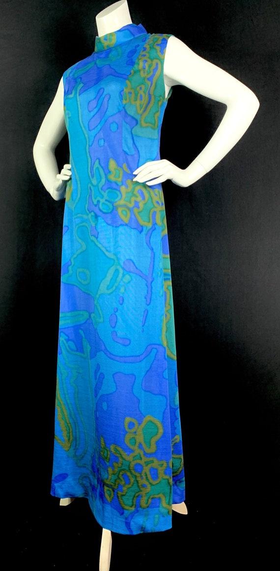 1960s Psychedelic Maxi Dress - Vintage 60s Mod Psy
