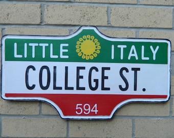 Toronto Street Sign - Little Italy