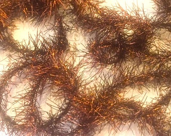 Vintage Style - NINE Feet (9') Long BROWN/COPPER Tinsel Garland - Crafts - Decoration - Tinsel Garland