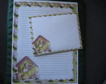 Easter Cat writing paper with envelopes