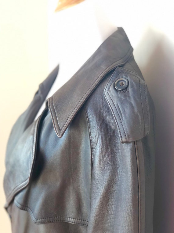 Brown Vintage Leather Trench