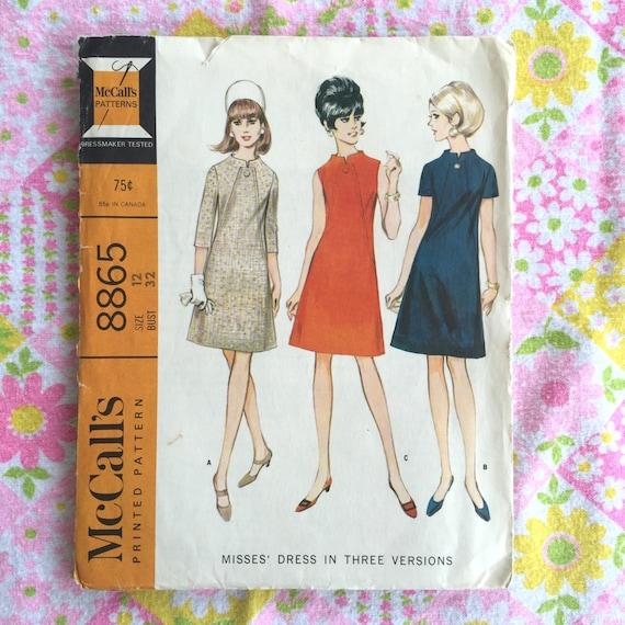 Patrón de costura Vintage vestido años 60 | Etsy