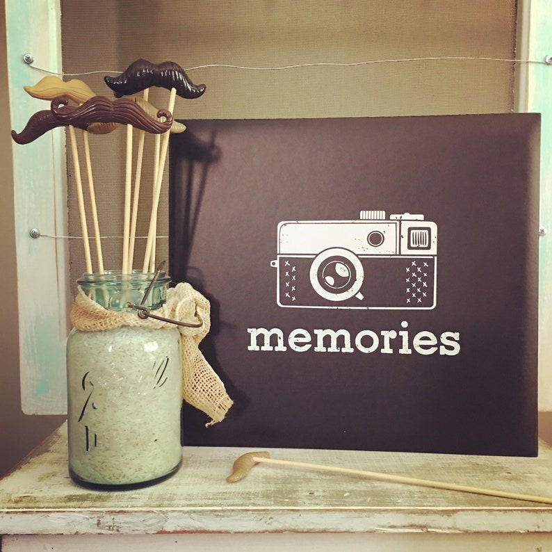Scrapbook Vintage Camera Memories Photo Album 10 Pages Top Loading Photo Safe 12x12