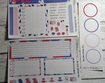 Die Maus und mir Notizen Page B Monthly Notizen Seite Planner Sticker Kit