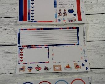 Land der freien Noten-Page B Monthly Notizen Seite Planner Sticker Kit